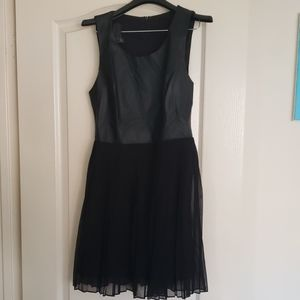 Black urban outfitters dress with leather front